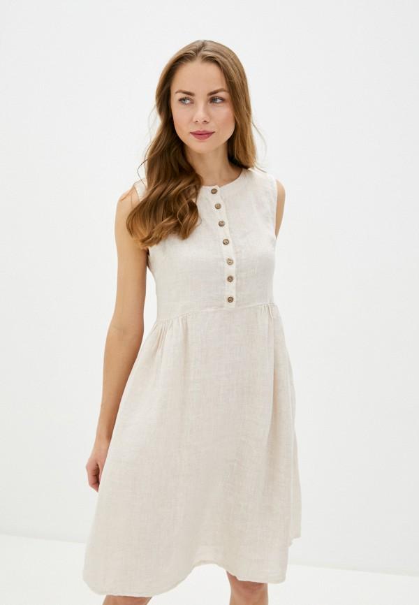 женское повседневные платье perfect j, бежевое