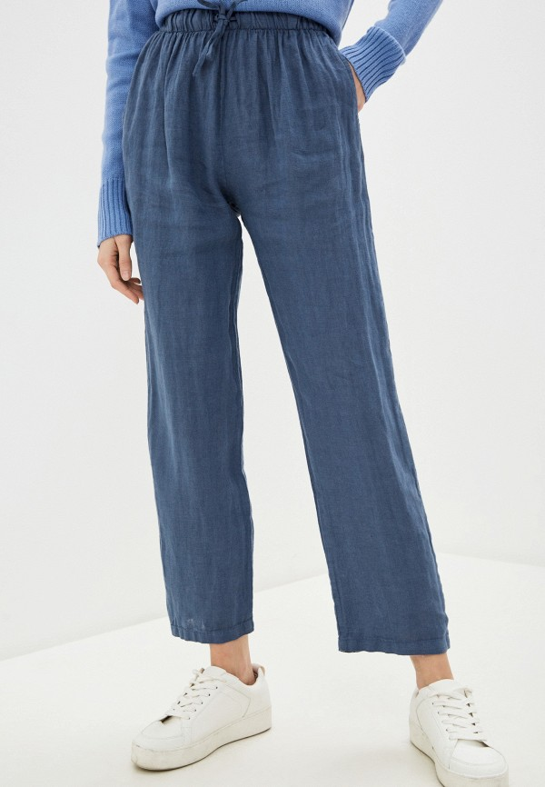 женские повседневные брюки perfect j, голубые