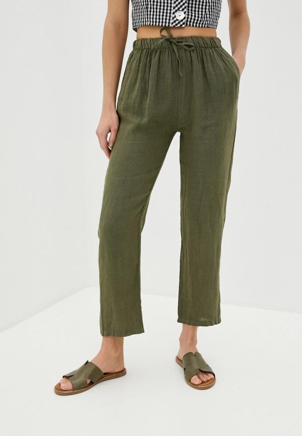 женские повседневные брюки perfect j, хаки