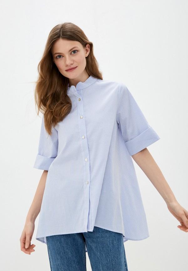 женская блузка perfect j, голубая