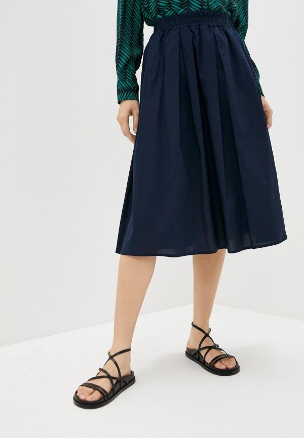женская юбка perfect j, синяя