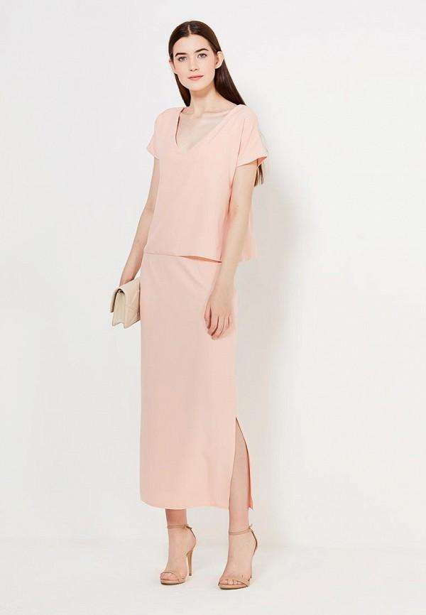 женское повседневные платье peperuna, розовое