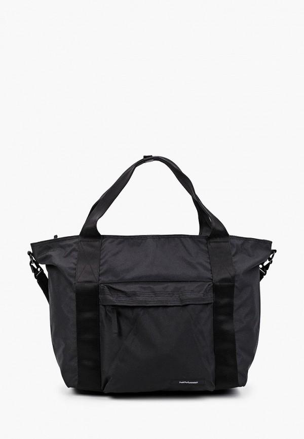 женская спортивные сумка peak performance, черная