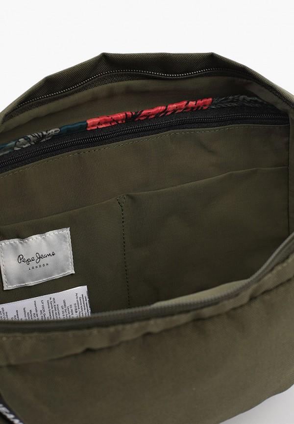 Фото 3 - Сумку поясная Pepe Jeans цвета хаки