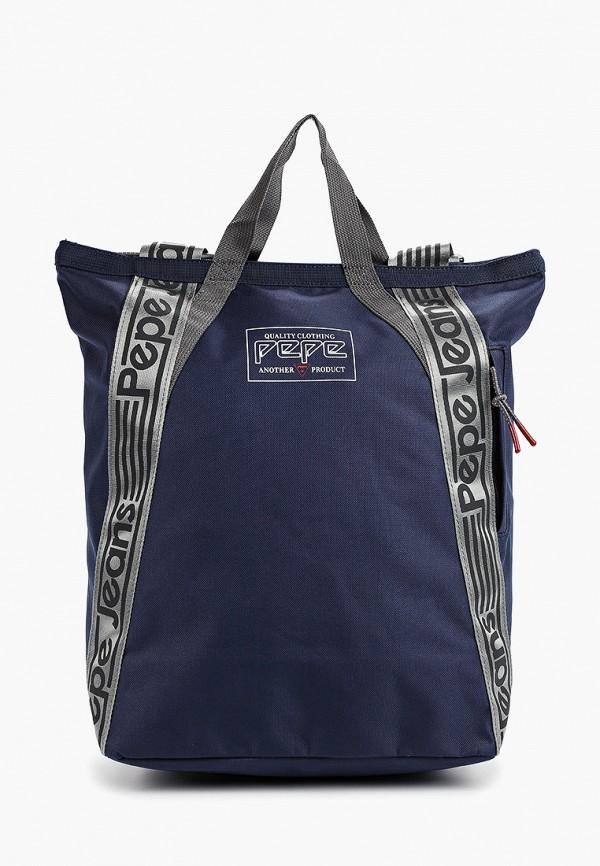 мужской рюкзак pepe jeans london, синий