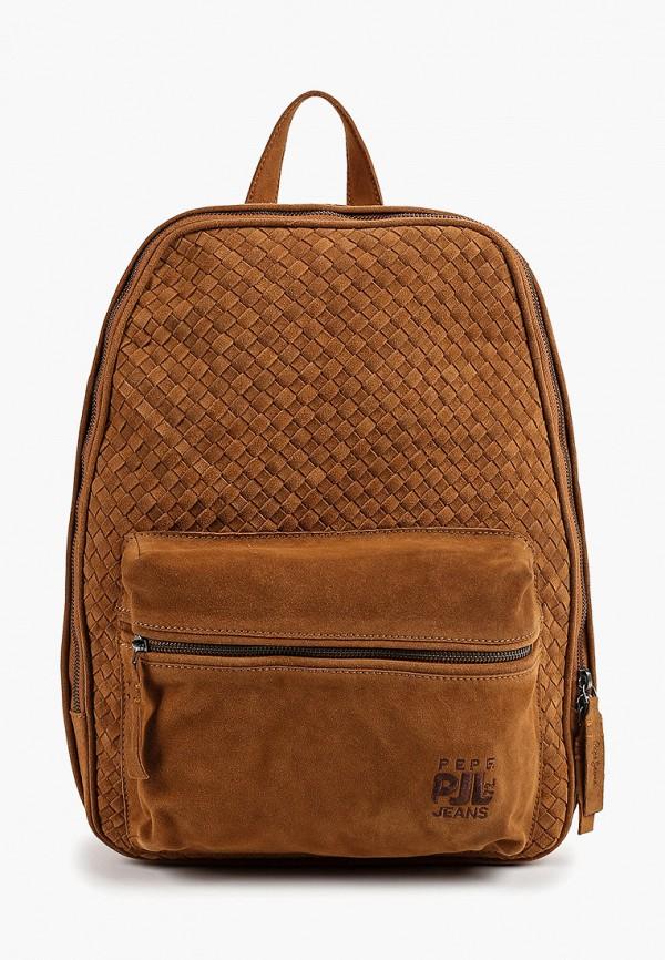 мужской рюкзак pepe jeans london, коричневый