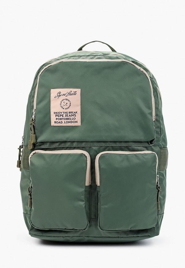мужской рюкзак pepe jeans london, зеленый