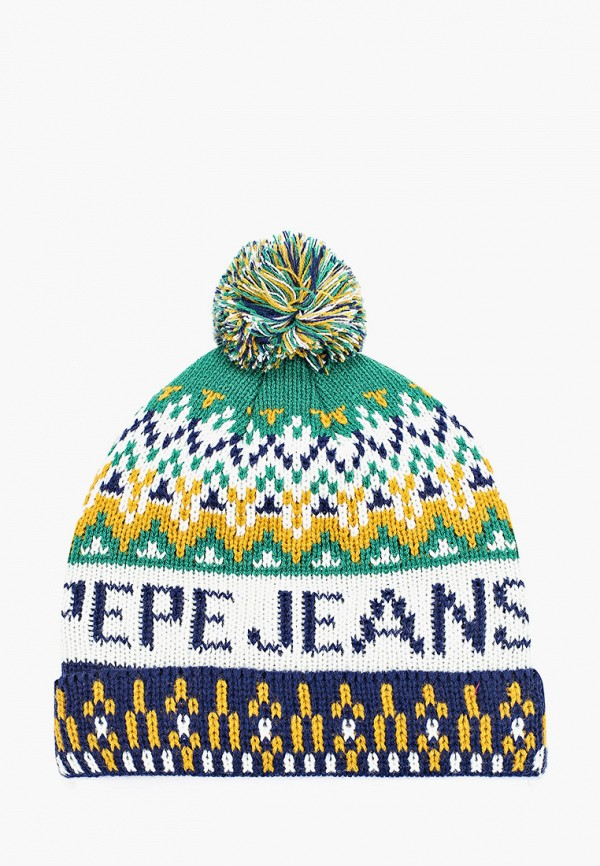 шапка pepe jeans london для мальчика, разноцветная