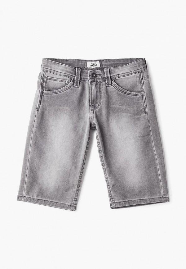джинсовые шорты pepe jeans london для мальчика, серые