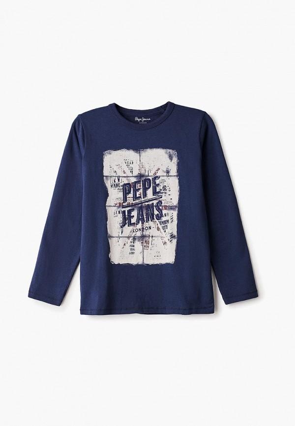 лонгслив pepe jeans london для мальчика, синий