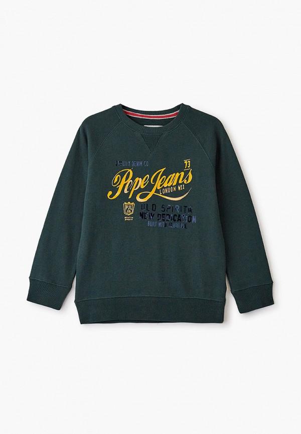 свитшот pepe jeans london для мальчика, зеленый