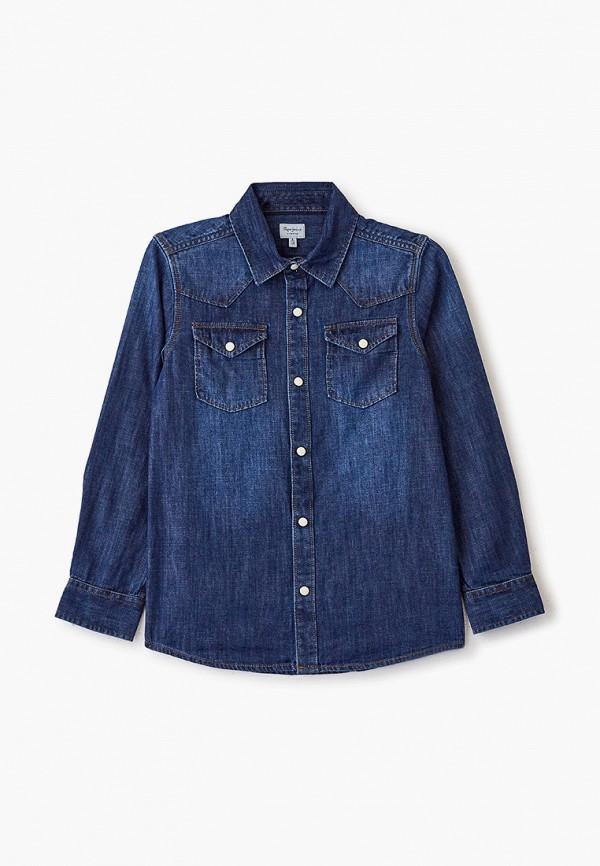 рубашка pepe jeans london для мальчика, синяя