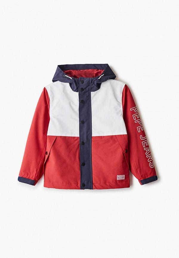 куртка pepe jeans london для мальчика, красная