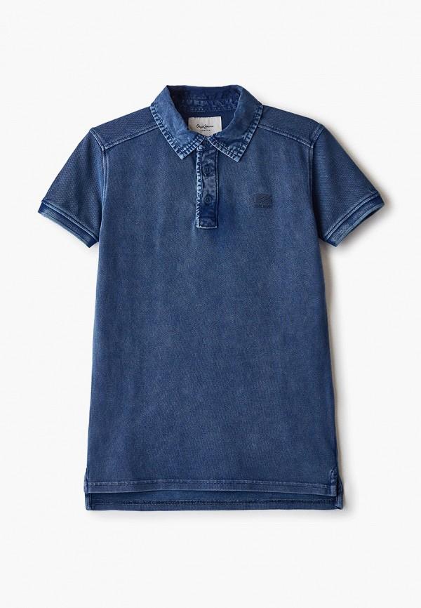 поло pepe jeans london для мальчика, синее