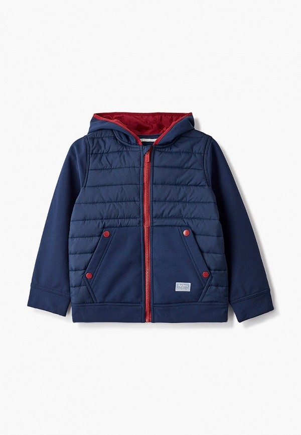 утепленные куртка pepe jeans london для мальчика, синяя