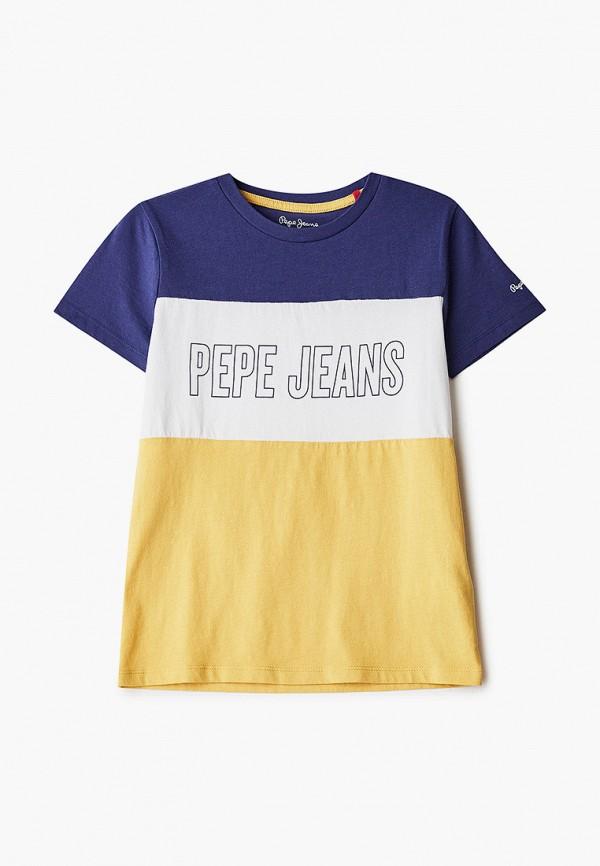 футболка с коротким рукавом pepe jeans london для мальчика, разноцветная