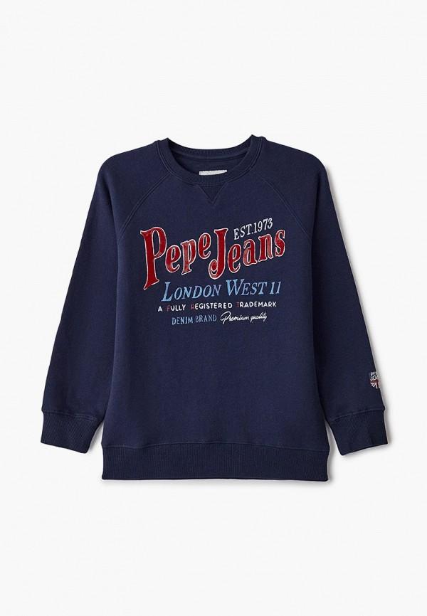 свитшот pepe jeans london для мальчика, синий