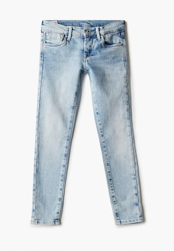 джинсы pepe jeans london для девочки, голубые
