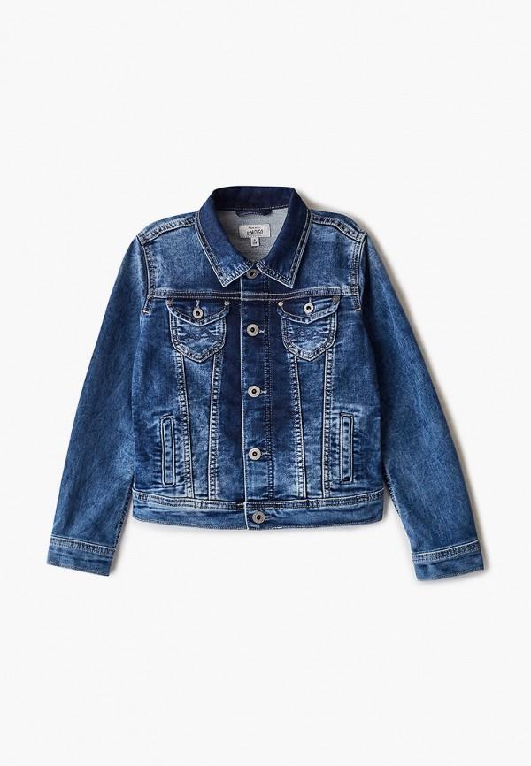 куртка pepe jeans london для девочки, синяя