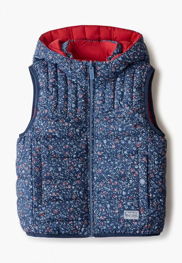 утепленные жилет pepe jeans london для девочки, разноцветный
