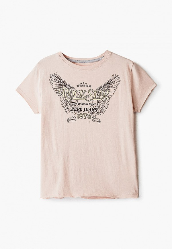 футболка с коротким рукавом pepe jeans london для девочки