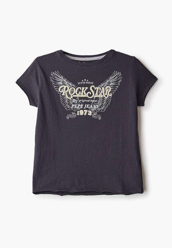 футболка с коротким рукавом pepe jeans london для девочки, черная