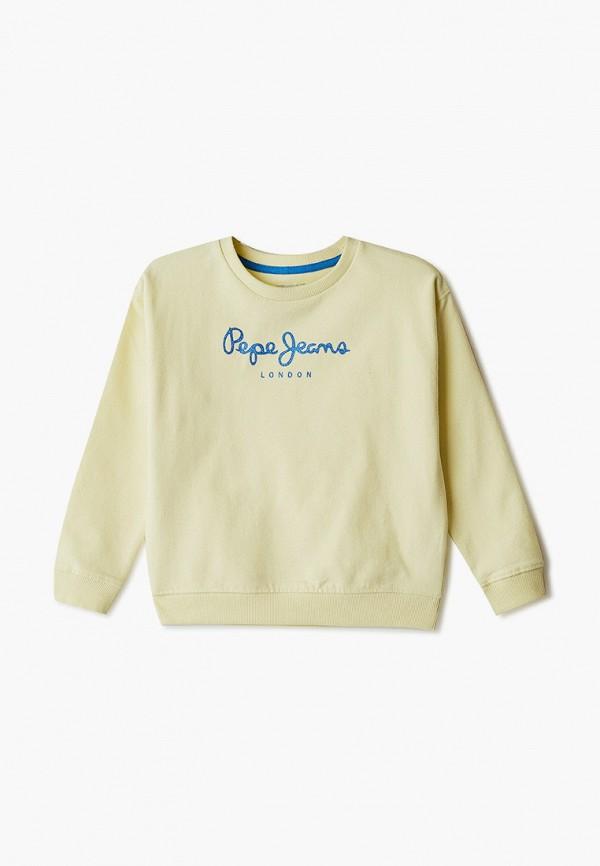 свитшот pepe jeans london для девочки, желтый