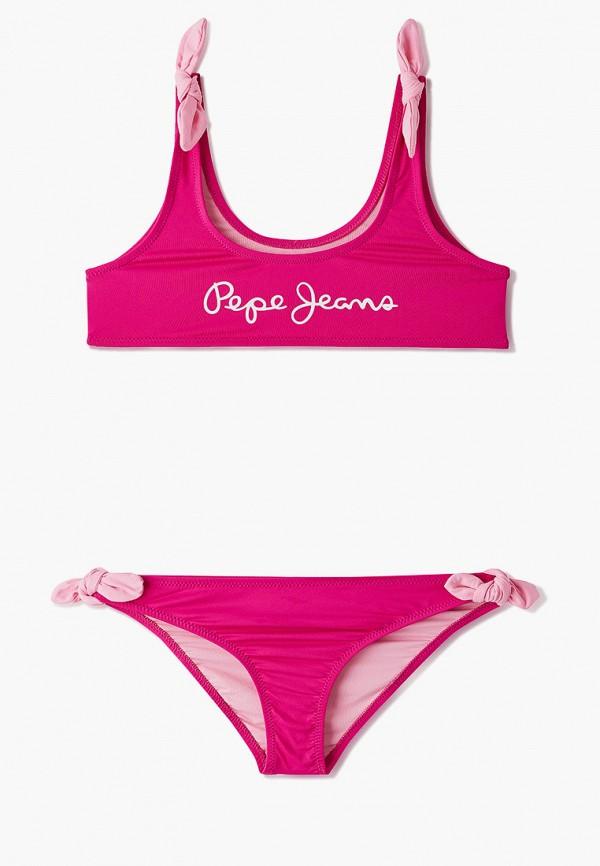 купальник pepe jeans london для девочки, розовый