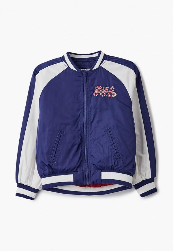 легкие куртка pepe jeans london для девочки, синяя