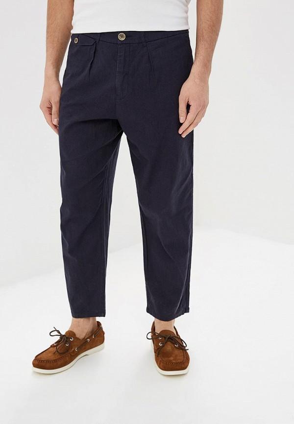 мужские повседневные брюки pepe jeans london, синие