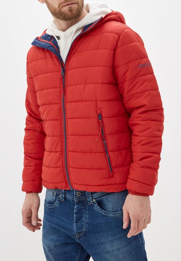 мужская куртка pepe jeans london, красная
