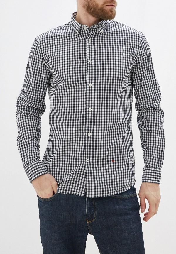 мужская рубашка с длинным рукавом pepe jeans london, черная