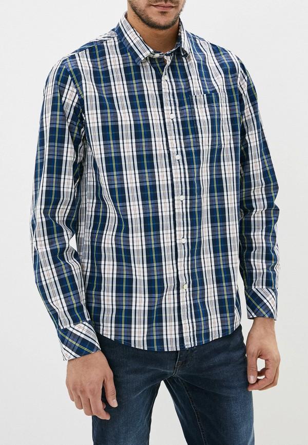 мужская рубашка с длинным рукавом pepe jeans london, синяя