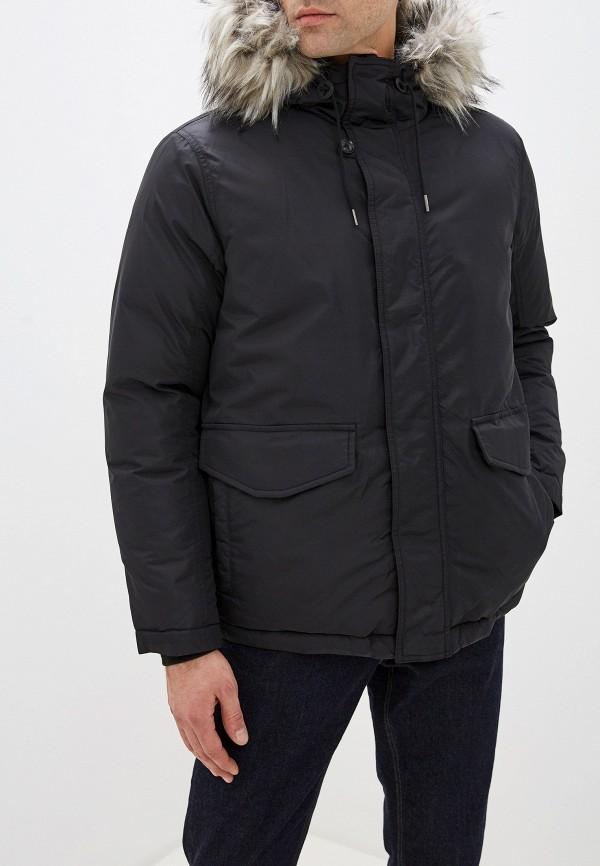 мужская утепленные куртка pepe jeans london, черная