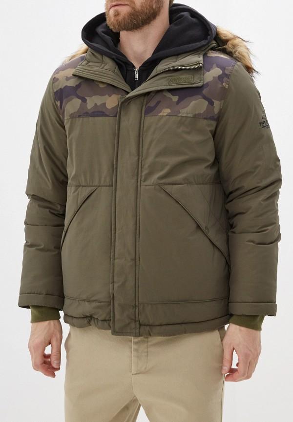 мужская утепленные куртка pepe jeans london, хаки