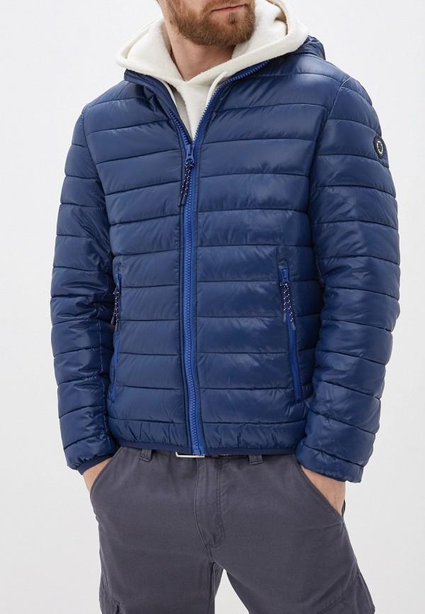 мужская утепленные куртка pepe jeans london, синяя