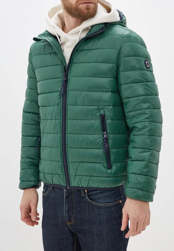 мужская утепленные куртка pepe jeans london, зеленая
