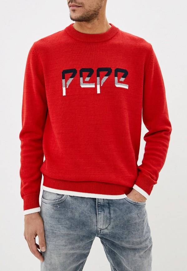 мужской джемпер pepe jeans london, красный