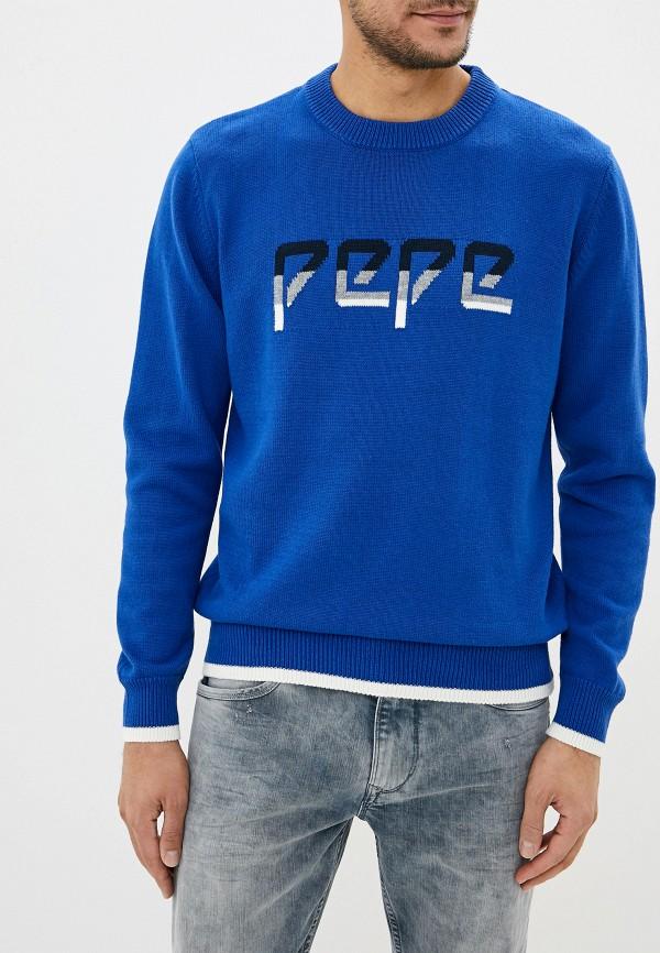 мужской джемпер pepe jeans london, синий