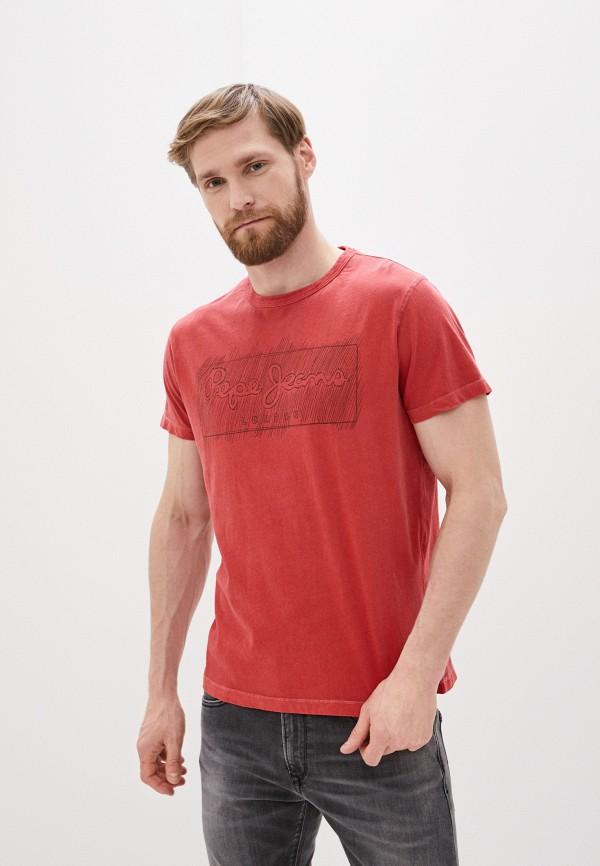 мужская футболка pepe jeans london, красная