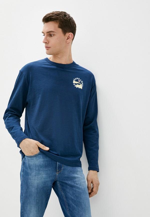 мужской лонгслив pepe jeans london, синий