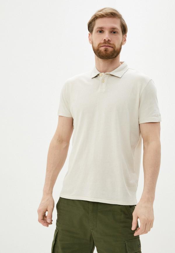 мужское поло с коротким рукавом pepe jeans london, бежевое