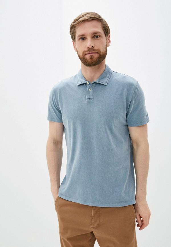 мужское поло pepe jeans london, голубое
