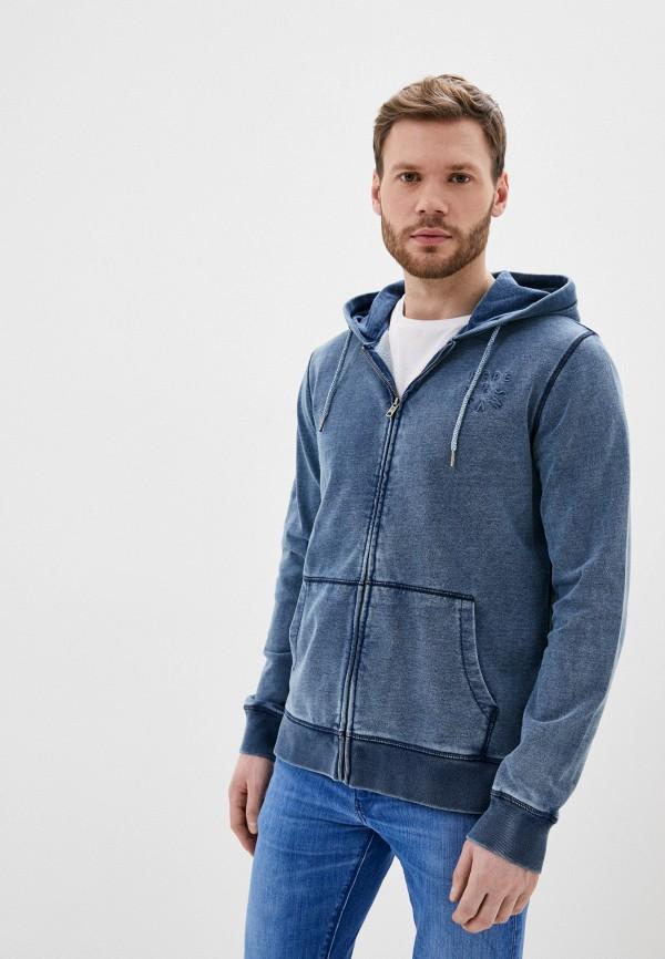 мужская толстовка pepe jeans london, синяя