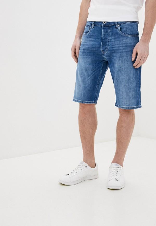мужские джинсовые шорты pepe jeans london, синие