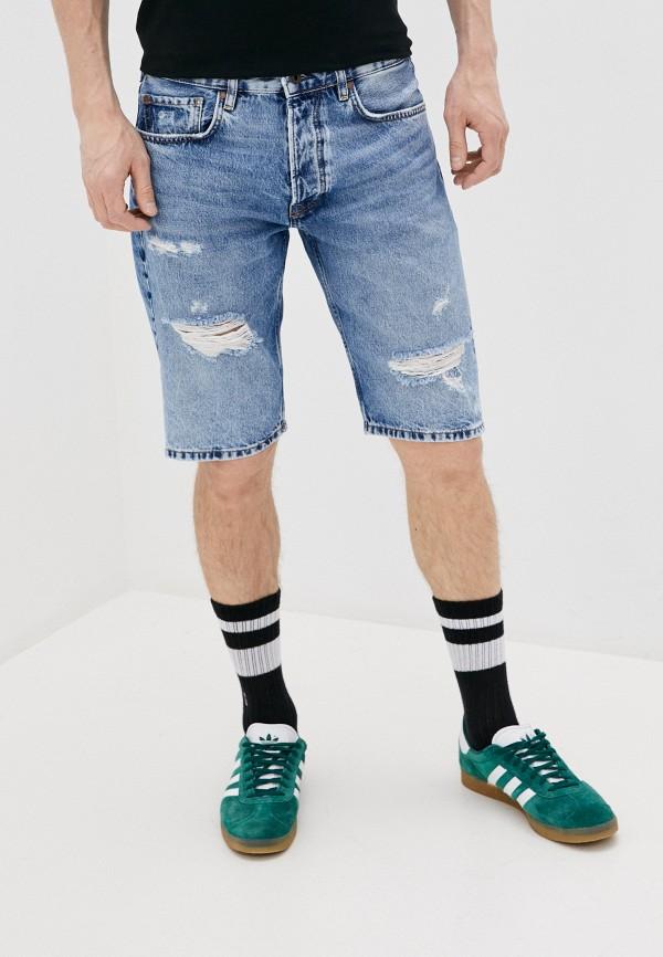 мужские джинсовые шорты pepe jeans london, голубые