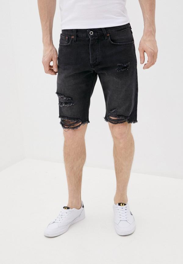 мужские джинсовые шорты pepe jeans london, серые