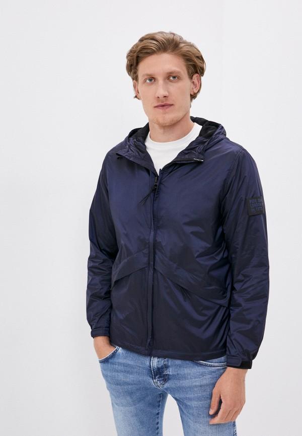 мужская ветровка pepe jeans london, синяя
