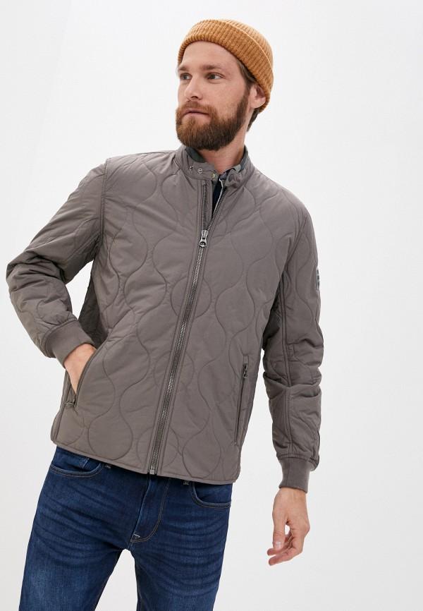 мужская утепленные куртка pepe jeans london, серая