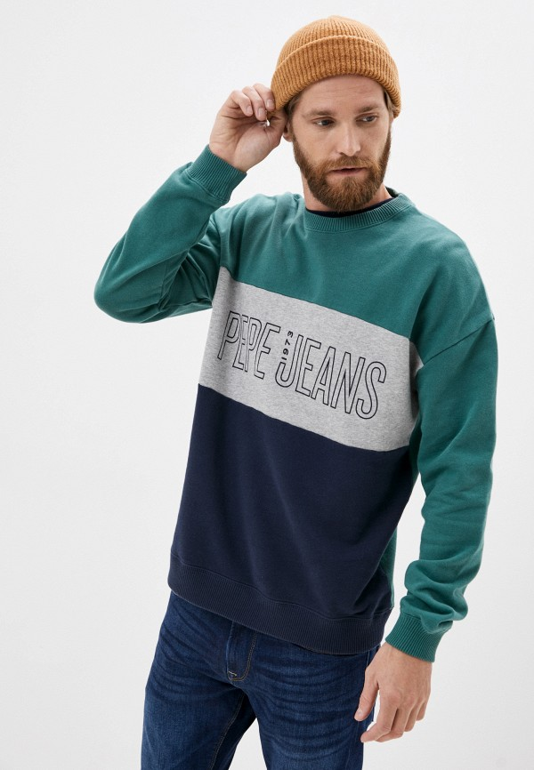 мужской свитшот pepe jeans london, зеленый